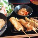 美食門天 - 串カツ屋の定食680円