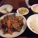 慶珍楼 - 麻婆ナス定食(700円)