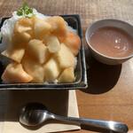 Cafe-nee - 生桃みるくかき氷