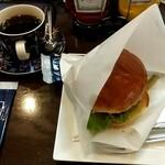 ヒロコーヒー - チーズインバーガーセット 1150円+税
