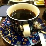 ヒロコーヒー - チーズインバーガーセットの日替わりコーヒー