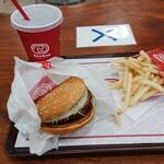 ドムドムハンバーガー - お好み焼きバーガーセット