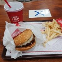 ドムドムハンバーガー-お好み焼きバーガーセット