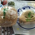 ふるてや - 料理写真:まさご(ゆずあん)& 三葉の松(もち入り抹茶)