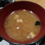 どん薩摩 - 味噌汁