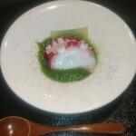 日本料理 まめぞう - たこと冬瓜の胡瓜すり流し