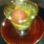 日本料理 まめぞう - とうもろこしの野菜ポン酢
