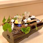 134151387 - ゆず・甘酒のシャーベット、炭酸水・オリーブオイル