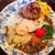 本石亭 - キーマカレー 1,000円+温野菜 150円+ハンバーグ 250円 = 1,400円