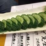 復興居酒屋がんばっぺし - 胡瓜1本漬け