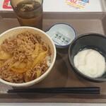 すき家 - 料理写真:わさび山かけ牛丼