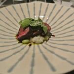 リストランテ カノフィーロ - ピエモンテ産ファッソーネ仔牛サガリ肉のグリーリア