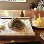 蕎麦切り大城 - 料理写真:小海老天もりそば