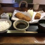 134176964 - ロース・ひれ盛り合わせ定食 2200円                         味噌だれ 110円