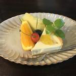 茶房むべ - レアチーズケーキ