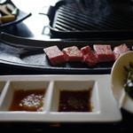 和牛厨 ふか尾 - サーロインステーキ昼膳~☆