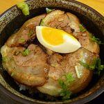 13418915 - + ミニ炙りチャーシュー丼 350円