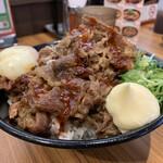 韓丼 - 温玉カルビ丼大盛り肉増し