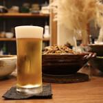 煮炊き すずなり - 生ビール