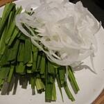 やさい家めい - 野菜(ニラ&玉葱)
