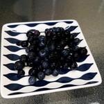 茶房停車場道 F&F - 料理写真:サービスで頂いたブルーベリー