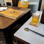 134192283 - ボトルなビールを全員手酌で( ・ิω・ิ)