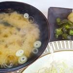 エーデルワイス - さすが定食。味噌汁とお新香!