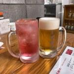 うず食堂 - バイスサワー(380円)&生ビール(480円)