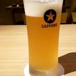 炉端焼き 鷹島本まぐろ 魚然 - 生ビール:500円+税