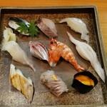 福寿司 - 特上にぎり 岡山の地魚を楽しめます♪