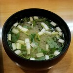 134207895 - 黄にらのお味噌汁( ゚Д゚)ウマー
