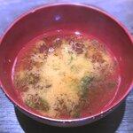 釜くら - お味噌汁 2019.4.27