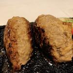 溶岩焼肉ダイニング bonbori - 拡大(最初はこの状態で出てきます。中はレア)