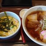 あさの - 料理写真:ミニ玉子丼とラーメンセット