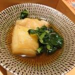 料理家 仄り - 焼茄子と小松菜のお浸し