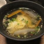 網焼レストラン 見蘭 - 玉子スープ 330円 (2020.7)