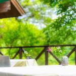 レストラン ラ・フォンテーヌ - 春〜夏のテラス席
