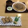 手打ち麺処にしい - 料理写真:鴨せいろ蕎麦と穴子押し寿司3切れ
