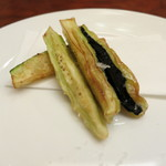 玉木 - サファイア茄子の揚げ物