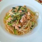 セッテマーレ - 鶏肉とオレガノのトマト煮込みスパゲッティ