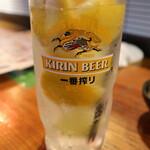 水戸焼肉ホルモン場Bar - レモンサワー