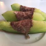 いちご一会 - メロンと生ハムの前菜