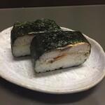 134262245 - 2020年8月時点 焼き鯖寿司2ケ¥250