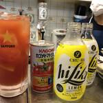 酒処 ひらた - いつかのハイリキレモンにトマジュ入れて レモントマチュ な絵図