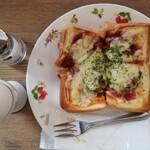 パーラー&喫茶 BC - モーニングセット(ピザトーストM/ゆで卵セット)(940円)