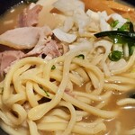 北海道ラーメン倶楽部 三代目蝦夷 - 蝦夷旨磯牡蠣味玉ラーメン 太麺
