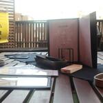 STEAK HOUSE & BBQ BALCONIWA - 屋上のテーブル席