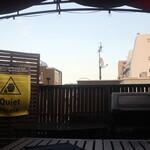 STEAK HOUSE & BBQ BALCONIWA - 屋上のテーブル席から見れる空