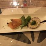 ビストロ ボナぺティ - サーモン、鶏の前菜