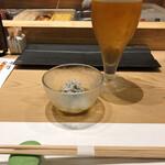 鮨 航 - 始まりは生ビール^^